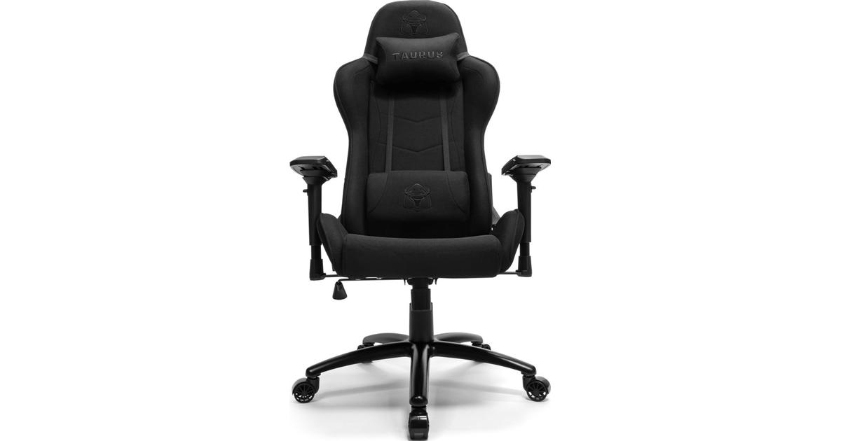 Taurus Blackout Fabric Gaming Chair Black