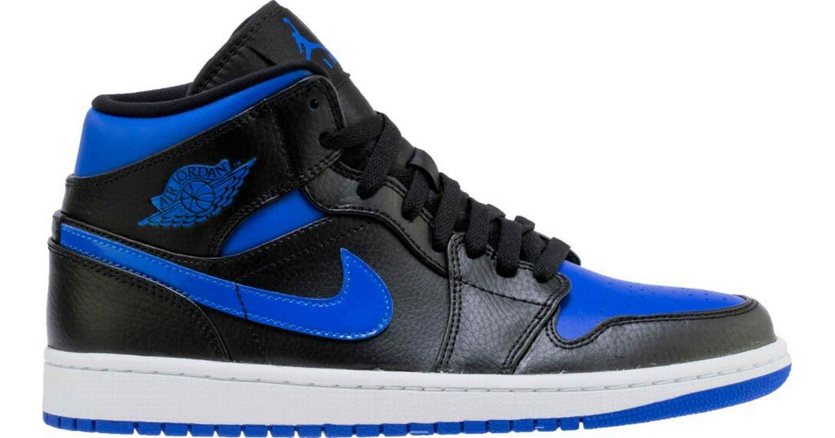 Nike Air Jordan 1 Mid M BlackWhiteHyper Royal