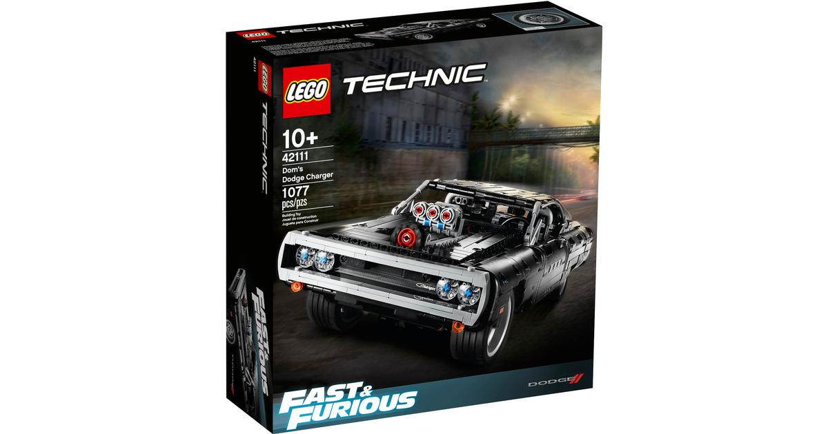 LEGO Technic FAST /& FURIOUS Dom's Dodge Charger 42111 Car NEW Trusted Seller