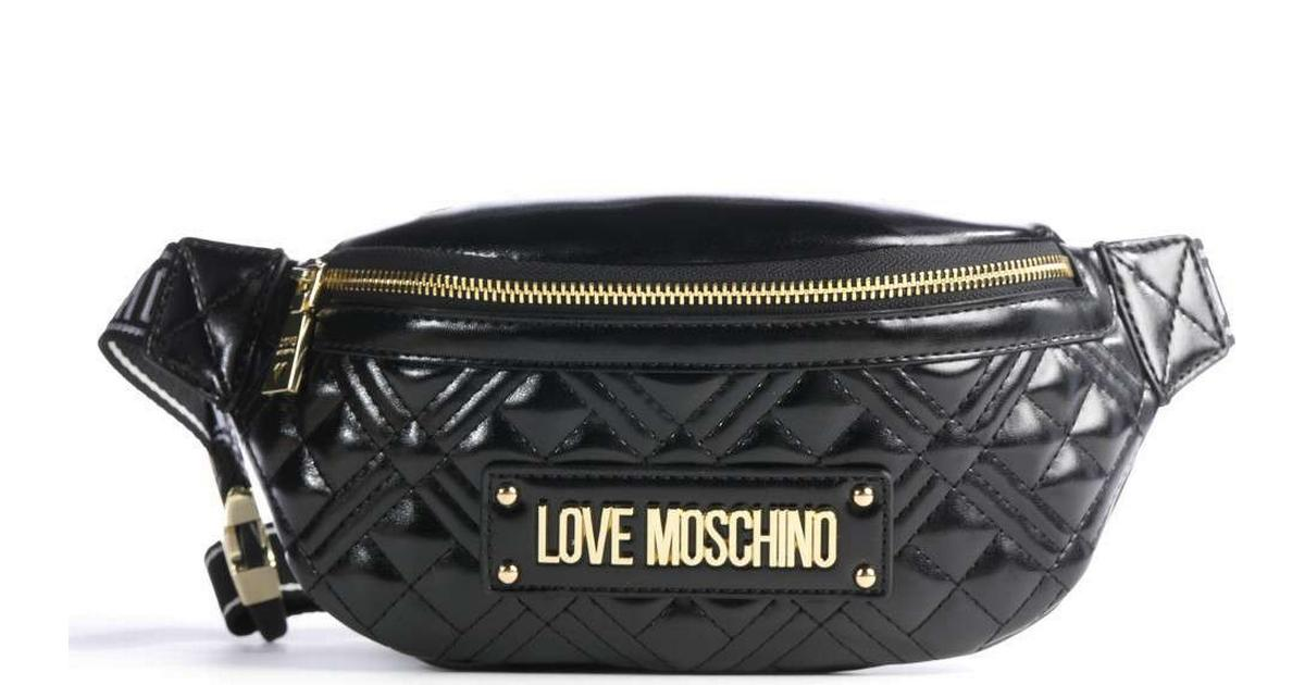 Love Moschino New Shiny Quilted Waistbag Black