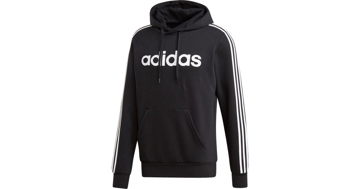 Adidas Essentials 3 Stripes Pullover Hoodie Men BlackWhite