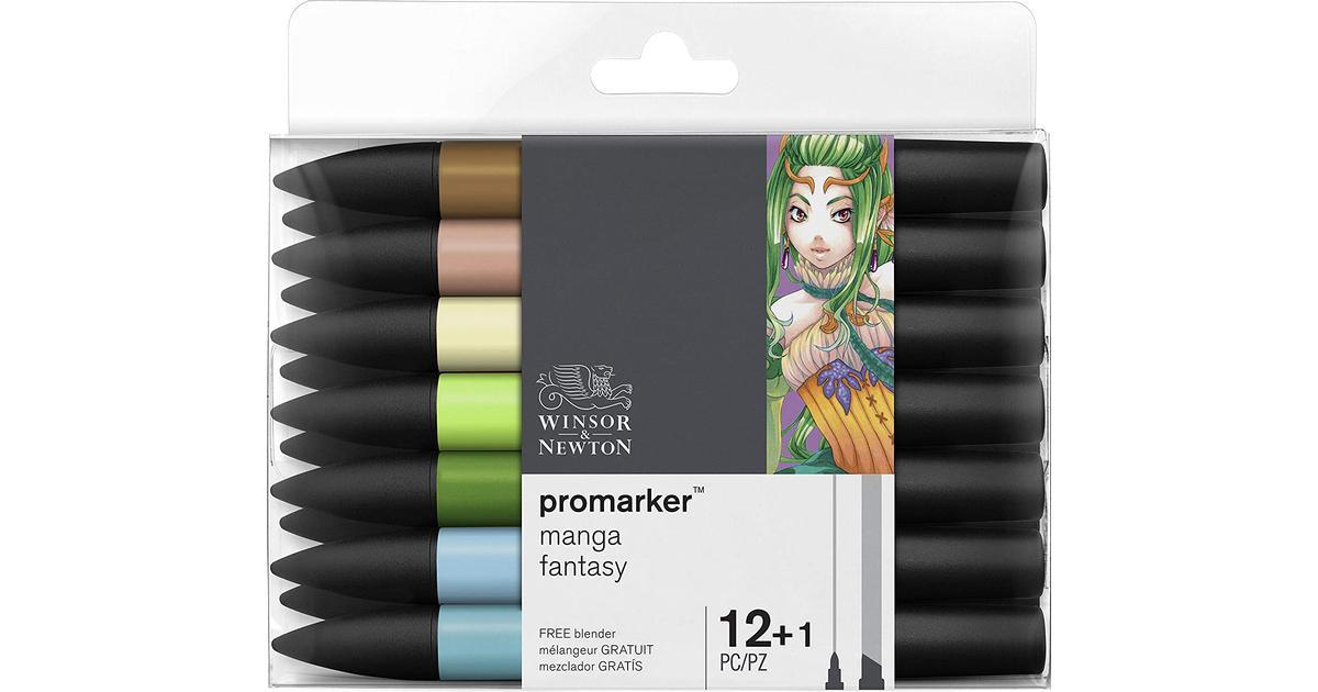 Winsor Newton Promarker Manga Fantasy 12 1 Pack Se Priser 3 Butiker