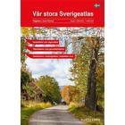 Vår stora Sverigeatlas: Vägatlas i stort format, skala 1:250000-1:400000 (Spiral, 2016)