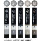 Chameleon Color Tops - Grey Tones