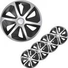 PROPLUS Hjulsidor set Roco silver/svart 16 tum 4 stycken i försäljningslåda 310876S