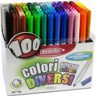 Fiberspetspenna 100 Colori, 100- set - Fibracolor
