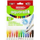 Aquarello 12- set, akvarell tusch - Fibracolor