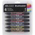Winsor & Newton BrushMarker 6-set Mid Tones