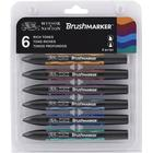 Winsor & Newton BrushMarker 6-set Rich Tones