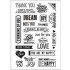 Clear Stamps, 11x15,5 cm, engelska ord, 1ark