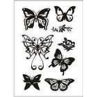 Clear Stamps, 11x15,5 cm, fjärilar, 1ark