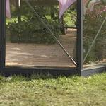 Sockel Halls Atrium Foundation 9m² Aluminium, Rostfritt stål