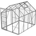 Fristående växthus Skånska Byggvaror Bruka 5.0m² Aluminium Glas
