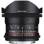 Samyang 12mm T3.1 VDSLR ED AS NCS Fisheye for Sony E