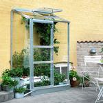 Väggväxthus Halls Växthus Altan 0,9 m2 Aluminium Glas