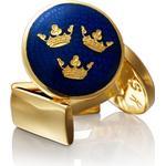 Smycken Skultuna Three Crowns - Gold Plated Cufflinks (929-B)