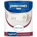 Paint Johnstones Eggshell Wood Paint White 0.75L Wood Paint White 0.75L