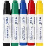 Glas- och porslinspennor Mucki Glass & Porcelain Markers 5-pack