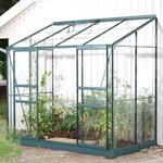 Polykarbonat Växthus Vitavia IDA Vægdrivhus 3.3m² Aluminium Glas