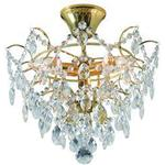 Crystal Chandelier Markslöjd 100538 Rosendal Gold Crystal Chandelier