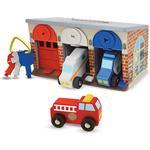 Play Set Melissa & Doug Lock & Roll Rescue Truck Garage