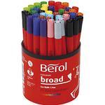 Pennor Berol Colour Broad Fibre Tipped Pen 1.7mm 42-pack