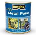Paint Rustins Quick Dry Metal Paint Black 0.5L
