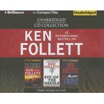 ken follett cd collection lie down with lions eye of the needle triple book