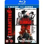 Django Unchained Filmer Django unchained + Inglorious basterds (2Blu-ray) (Blu-Ray 2015)