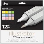 Hobbymaterial Spectrum Noir Illustrator Sketching Markers 12-pack