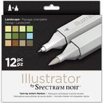 Markers Spectrum Noir Illustrator Landscape Markers 12-pack