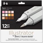 Hobbymaterial Spectrum Noir Illustrator Figure Markers 12-pack