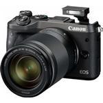 Spegellös systemkamera på rea Canon EOS M6 + 18-150mm IS STM