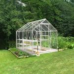 Fristående växthus - Glas Halls Popular 86 5m² Aluminium Glas