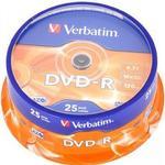 CD/DVD/BD-media Verbatim DVD-R 4.7GB 16x Spindle 25-Pack