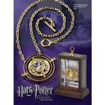 Hänghalsband Noble Collection Harry Potter Hermione's Time Turner Replica Gold Plated Necklace