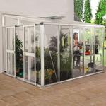Väggväxthus Vitavia Helena 10.2m² Aluminium Glas