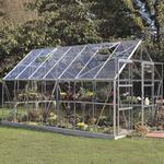 Fristående växthus Halls Magnum 148 11.5m²s Aluminium Glas