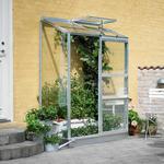 Väggväxthus Halls Wall Garden 24 0.9m² 4mm Aluminium Polycarbonate