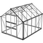Fristående växthus Skånska Byggvaror Odla 8.2m² Aluminium Glas