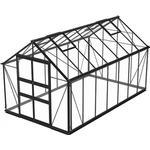 Fristående växthus - Glas Skånska Byggvaror Odla 11.4m² Aluminium Glas