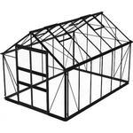 Växthus Skånska Byggvaror Odla 9.8m² with Base Aluminium Glas, Säkerhetsglas