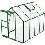 Aluminium - Plast Växthus Skånska Byggvaror Bruka 5.0m² Aluminium Plast