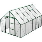 Aluminium - Plast Växthus Skånska Byggvaror Bruka 9.9m² Aluminium Plast