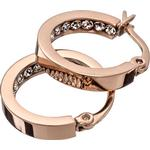 Rostfritt Smycken Edblad Monaco Mini Stainless Steel Rose Gold Plated Earrings w. Transparent Cubic Zirconium - 1.7cm (78900)