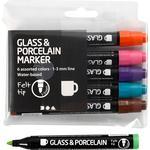 Glas- och porslinspennor Standard Colour 1-3mm Marker 6-pack