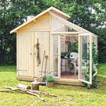 Växthus Plus Utility Room 6.6m² Aluminium Härdat glas