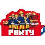 Inbjudningar Amscan Invites Fireman Sam Stand Up 8-pack