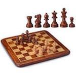 Schackbräde i Rosenträ och Lönn med vägda schackpjäser i Buxbom (Övrigt format, 2014)