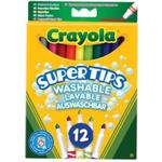 Pennor Crayola Super Tips Washable Lavable Auswaschbar 12-pack